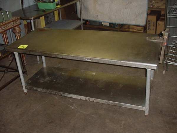 76: STAINLESS STEEL WORK TABLE
