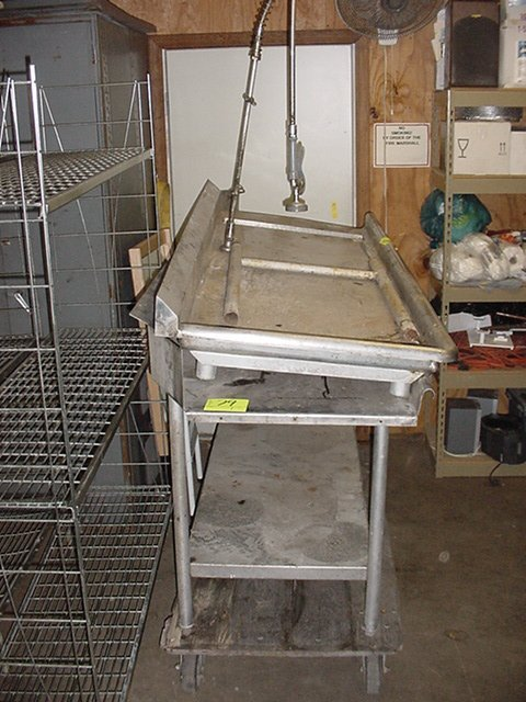 79: STAINLESS STEEL IN-OUT WASH STATION