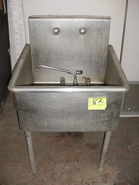 82: STAINLESS STEEL MOP SINK
