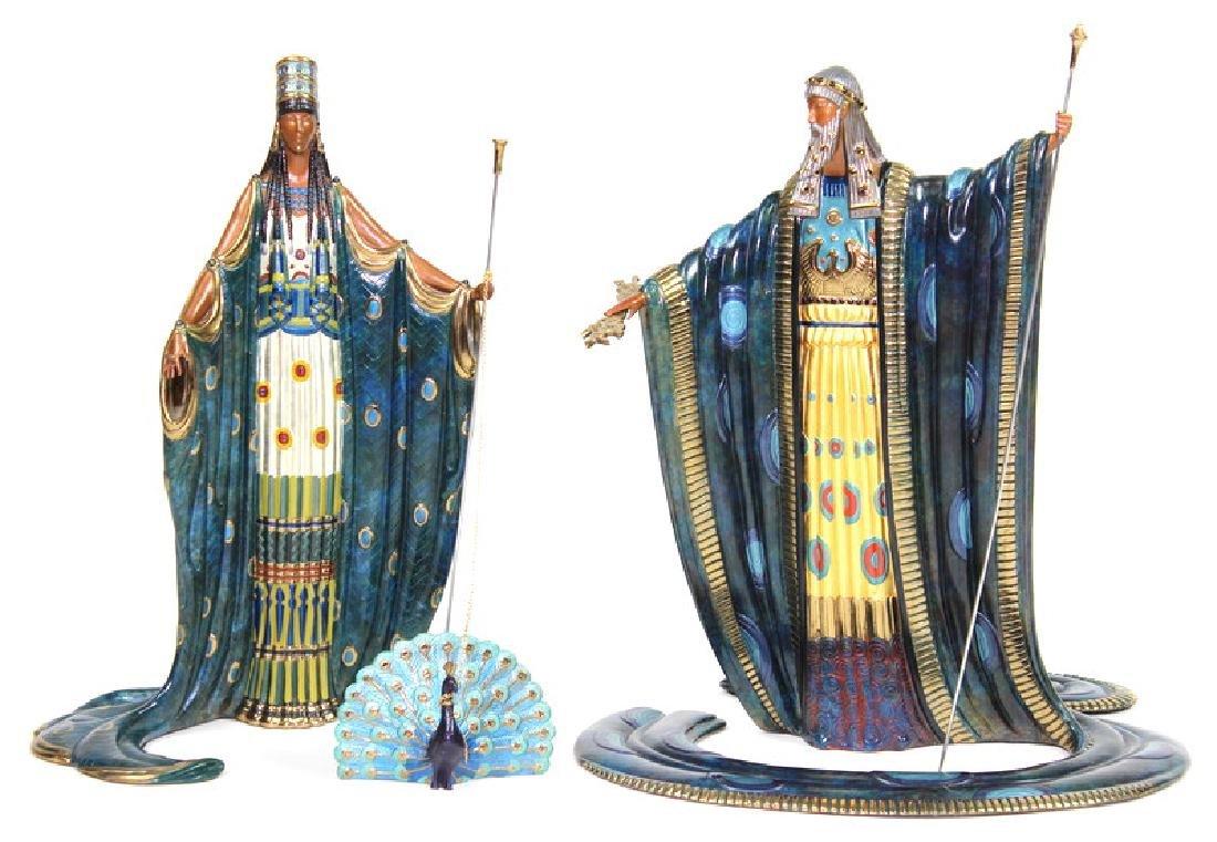 Bronze, Romain (Erte) De Tirtoff, Hera and Zeus