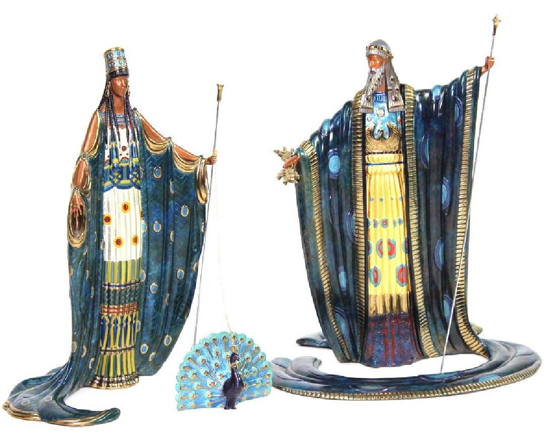 Bronze, Romain (Erte) De Tirtoff, Hera and Zeus - 2
