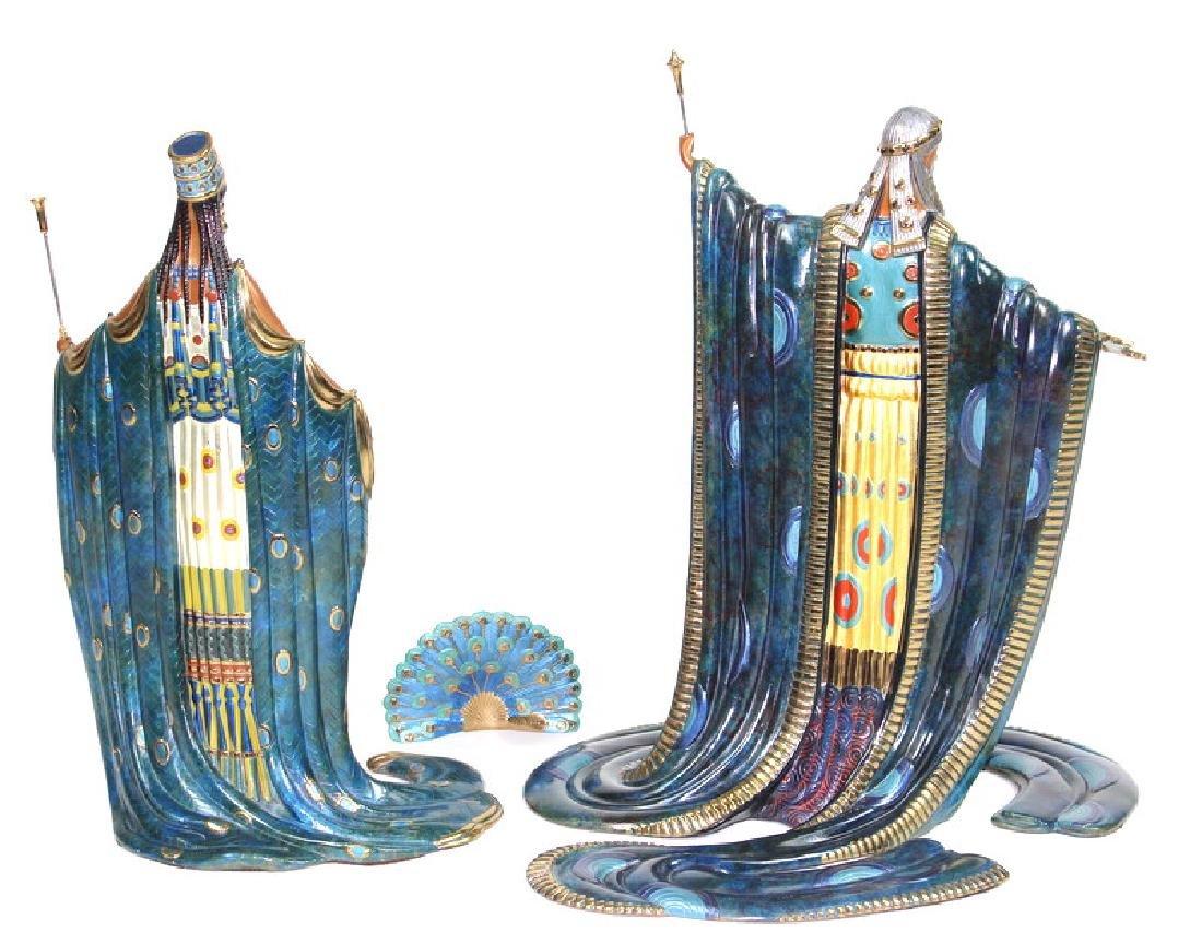 Bronze, Romain (Erte) De Tirtoff, Hera and Zeus - 4