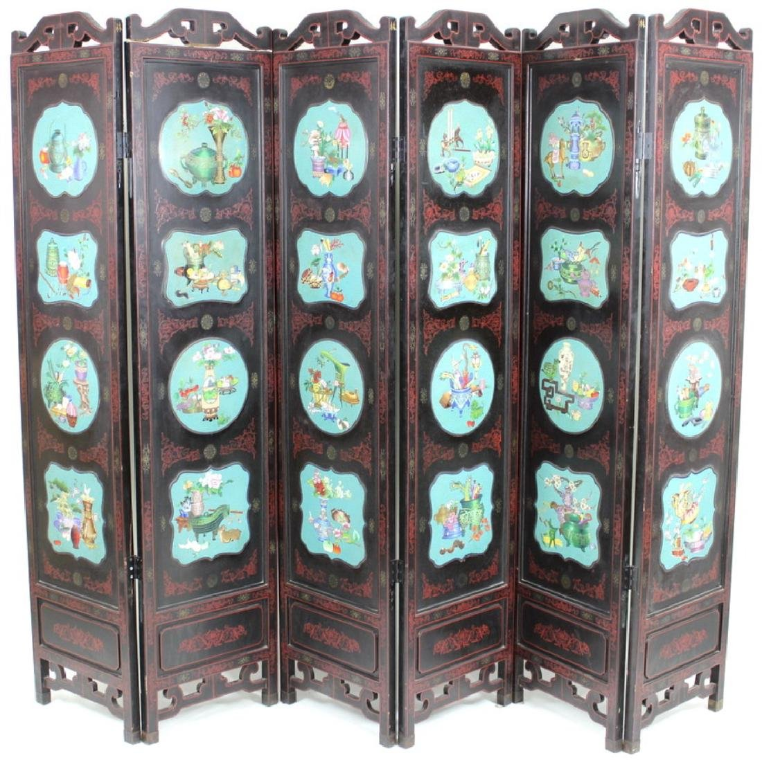 Chinese Cloisonne Screen