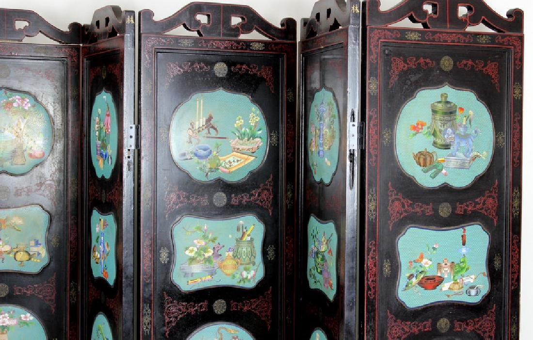Chinese Cloisonne Screen - 2