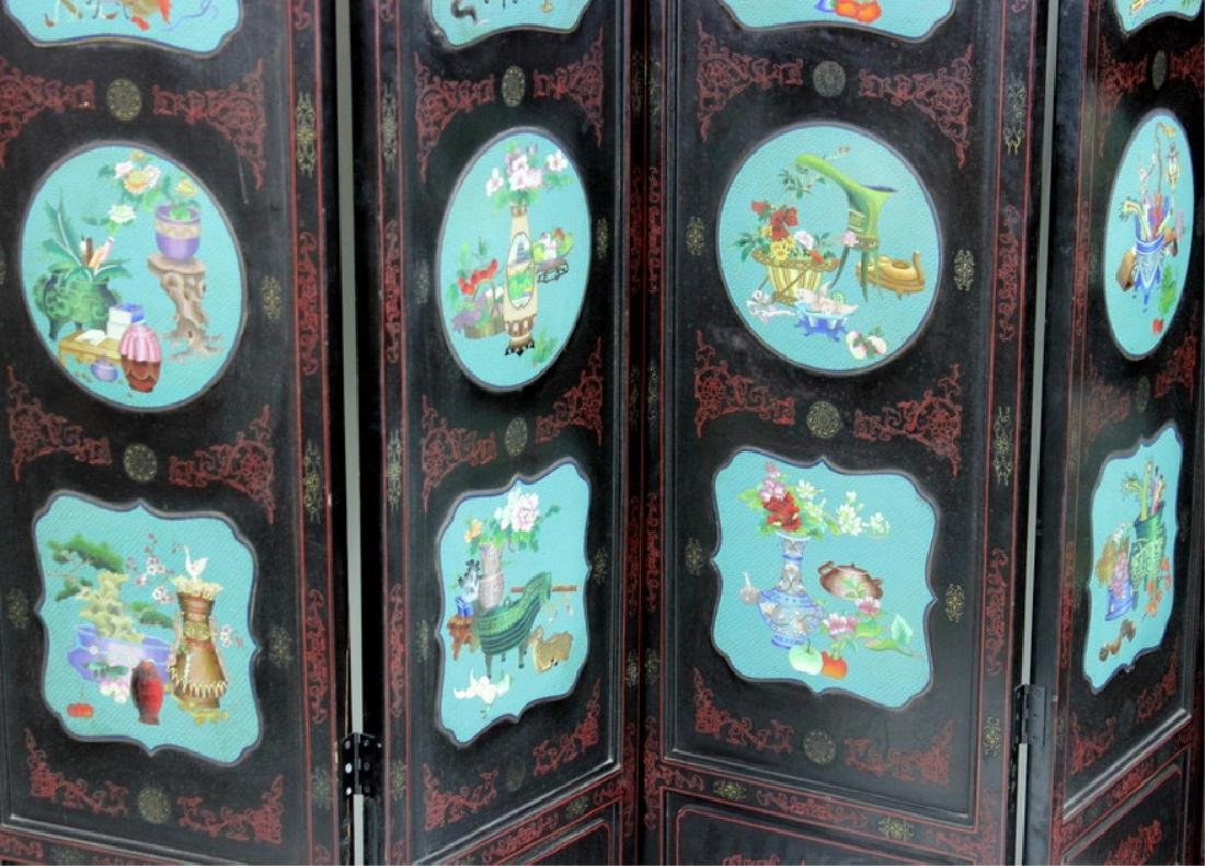 Chinese Cloisonne Screen - 4