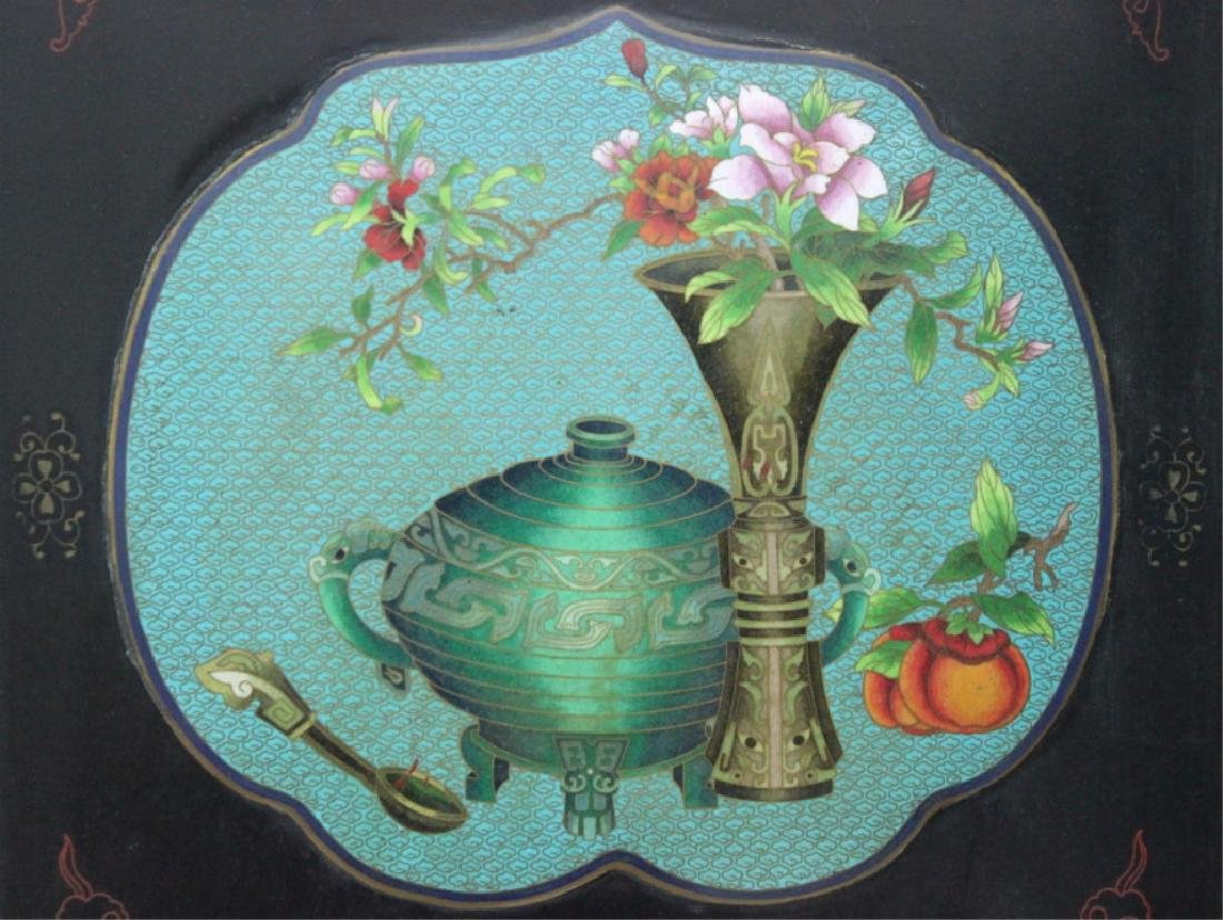Chinese Cloisonne Screen - 5