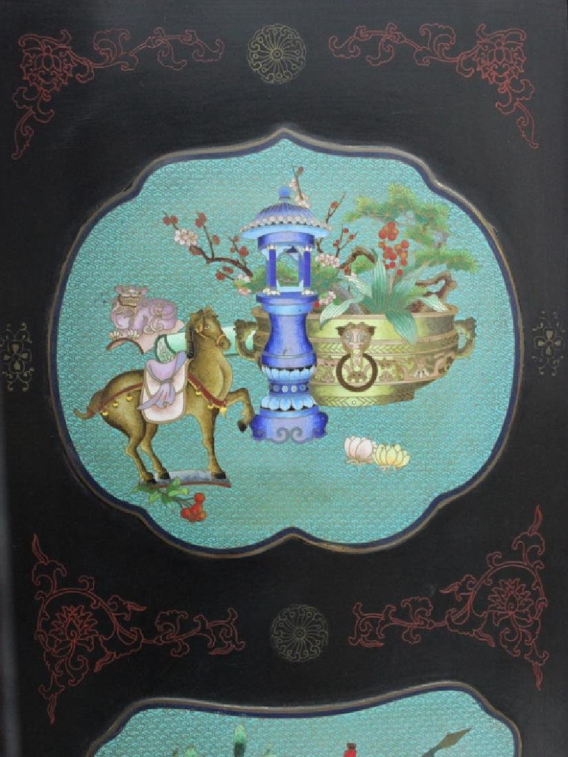 Chinese Cloisonne Screen - 6