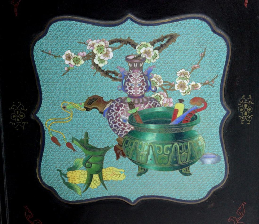 Chinese Cloisonne Screen - 8