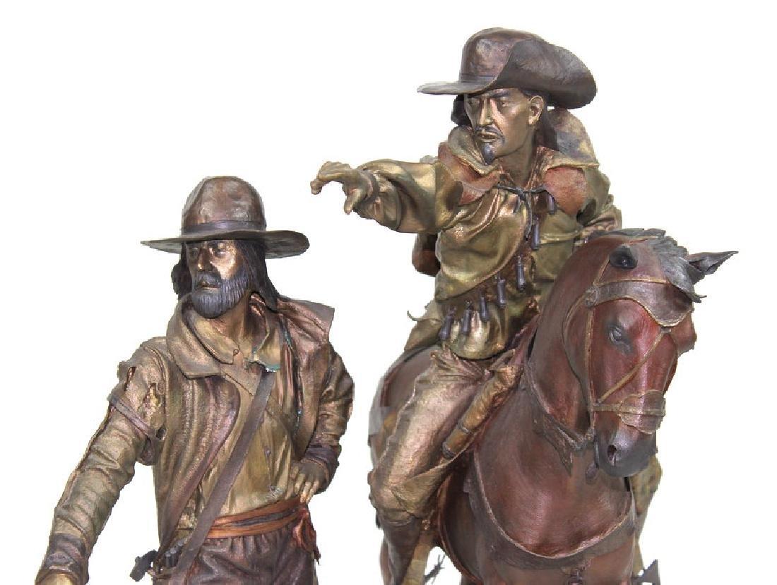 "Dave McGary "" The Founding of Santa Fe"" Bronze - 3"