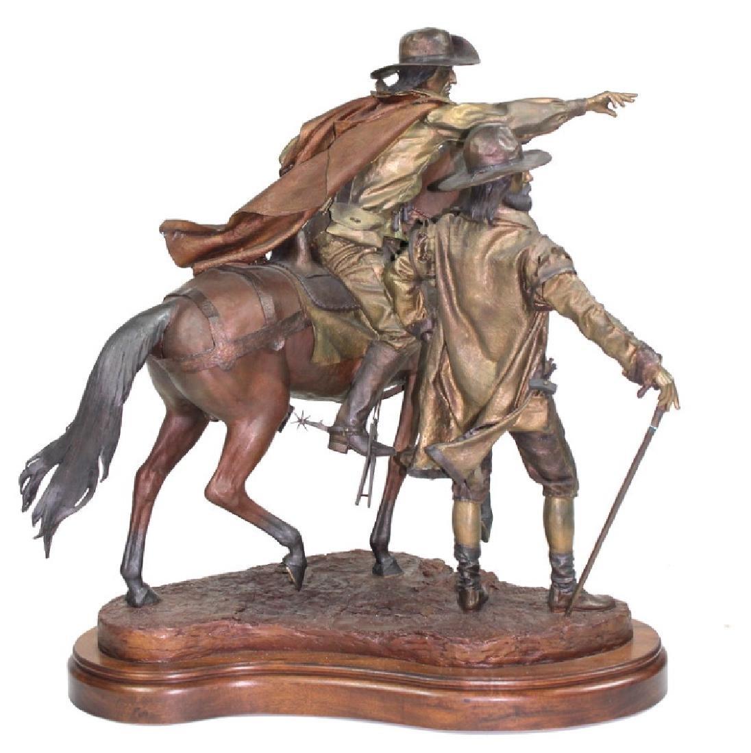 "Dave McGary "" The Founding of Santa Fe"" Bronze - 4"