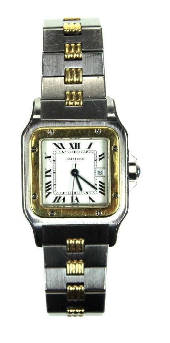 Cartier 18 Karat & Stainless Steel Automatic Watch