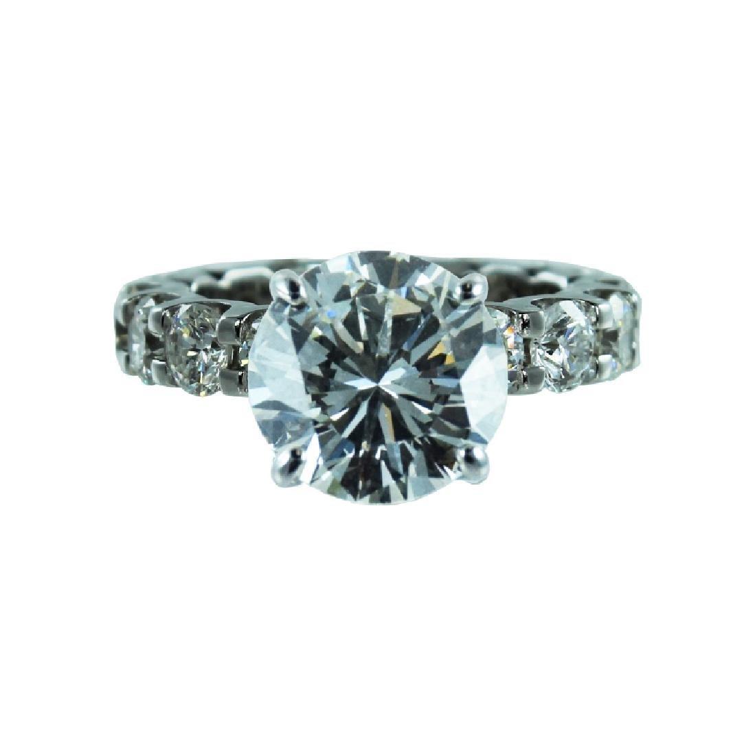 GIA Certified, 14K 4.14 Carats Diamond Ring