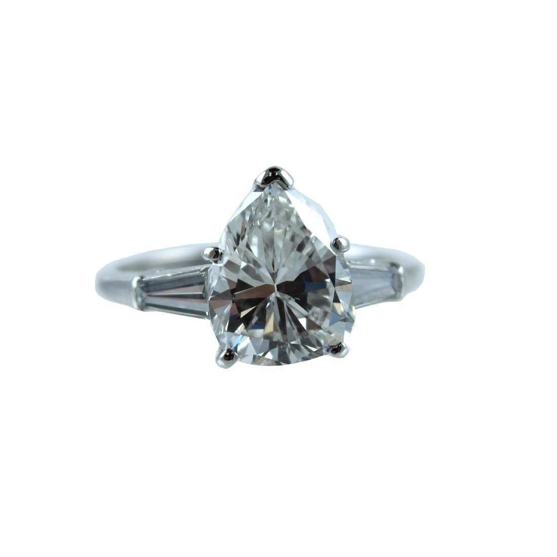 GIA Certified VS1-G, Platinum 3.00CTS Engagement Ring