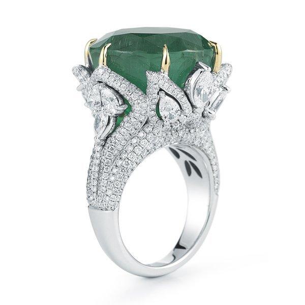 GIA Certified, Emerald & Diamond Ring
