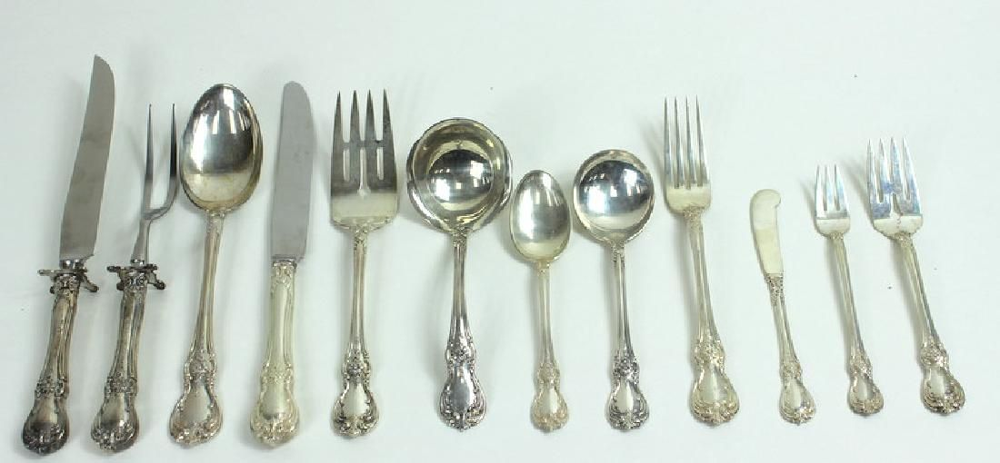"""Towle """"Old Master"""" Sterling Silverware Set, 83 Ozt"""