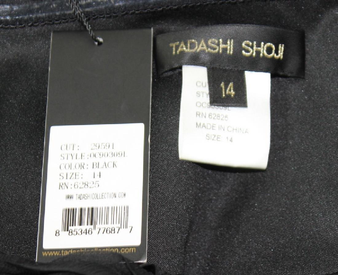 Tadashi Shoji Black Silk, Ruffled Gown, Size14 - 4