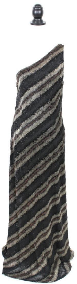 Carmen Marc Valvo Beaded Black & Bronze Gown, 14