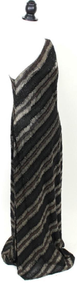 Carmen Marc Valvo Beaded Black & Bronze Gown, 14 - 2