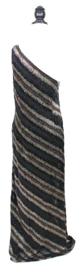 Carmen Marc Valvo Beaded Black & Bronze Gown, 14 - 3
