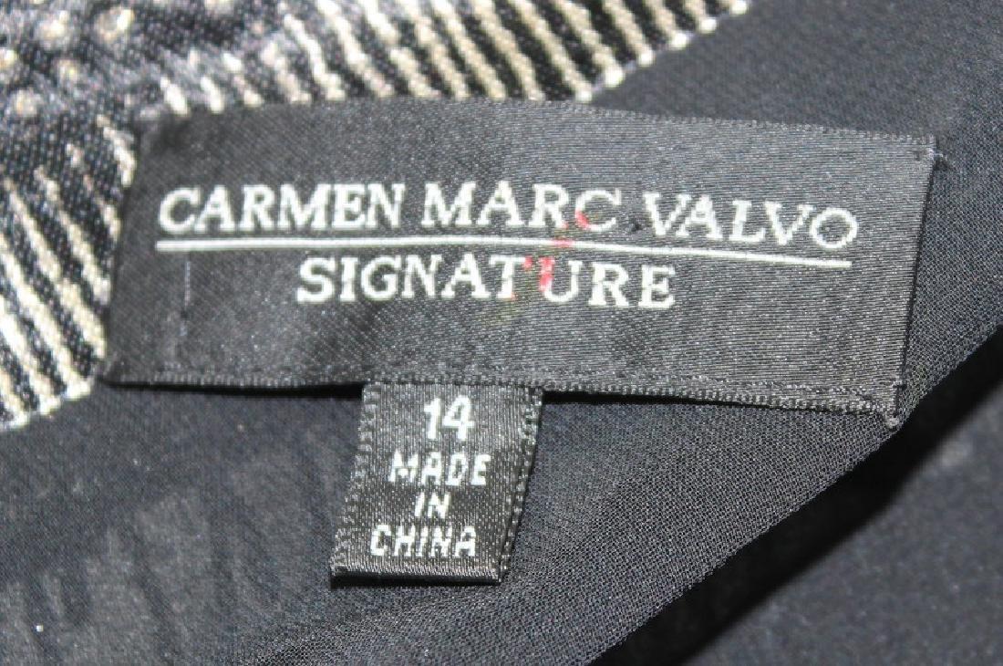 Carmen Marc Valvo Beaded Black & Bronze Gown, 14 - 4