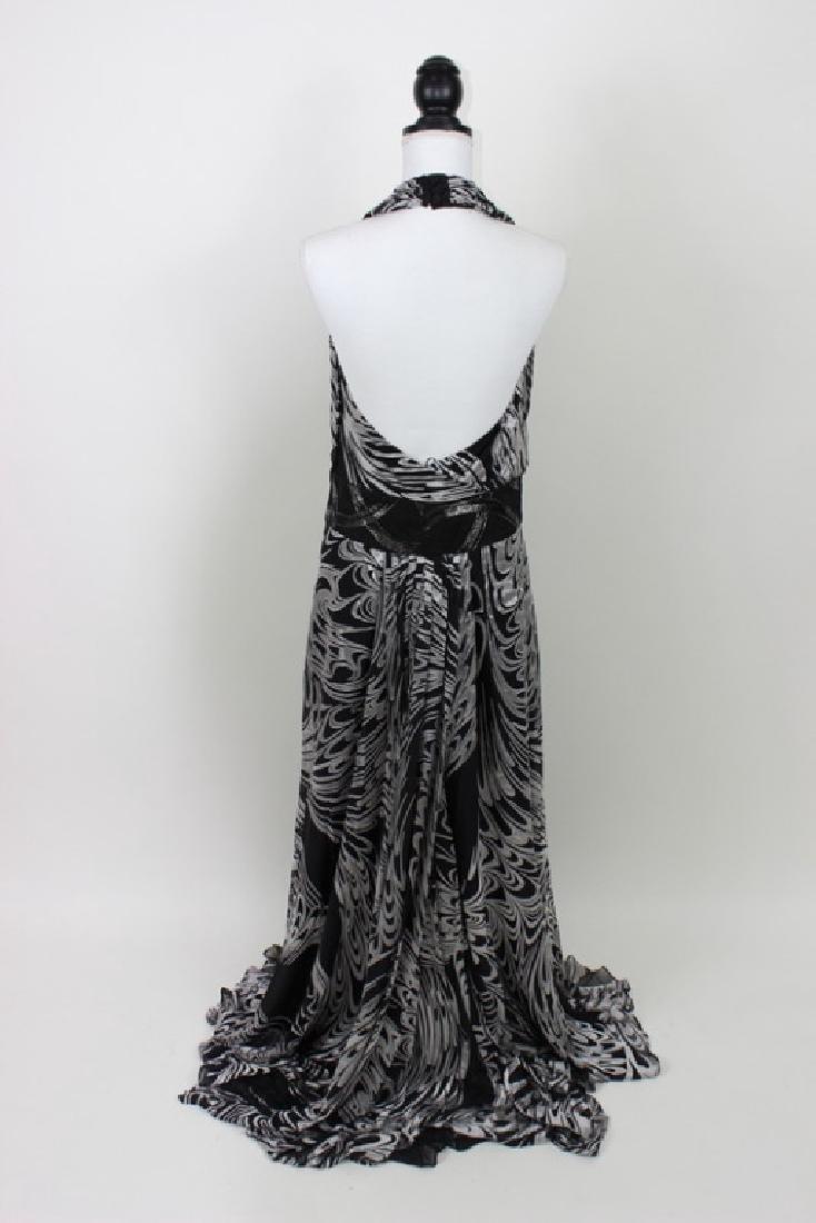 Escada Black & Silver Halter Gown - 3