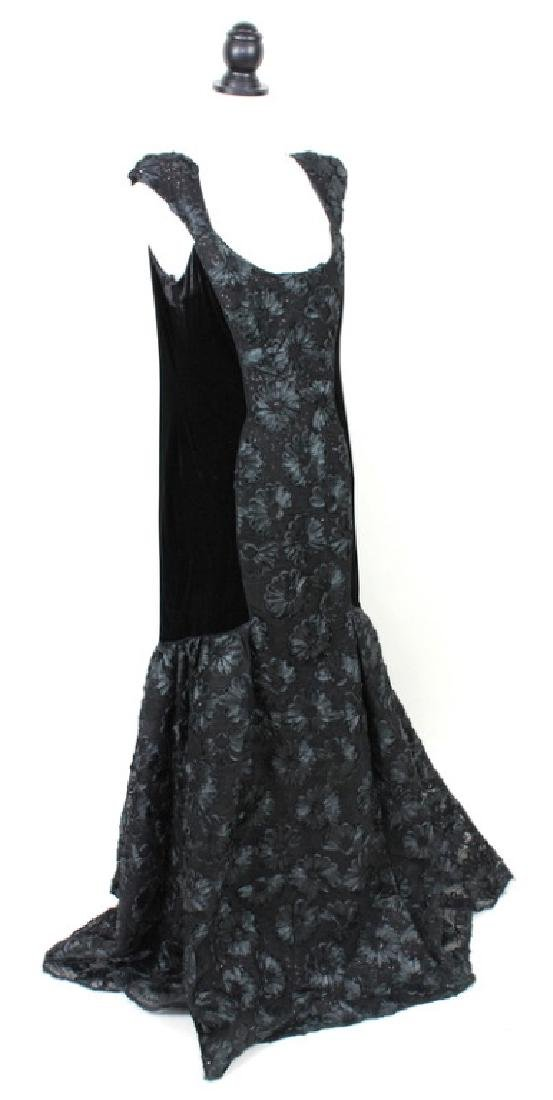 Theia Black Velvet Gown, 14 - 2