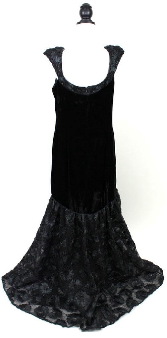 Theia Black Velvet Gown, 14 - 3
