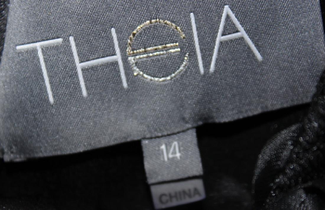 Theia Black Velvet Gown, 14 - 4