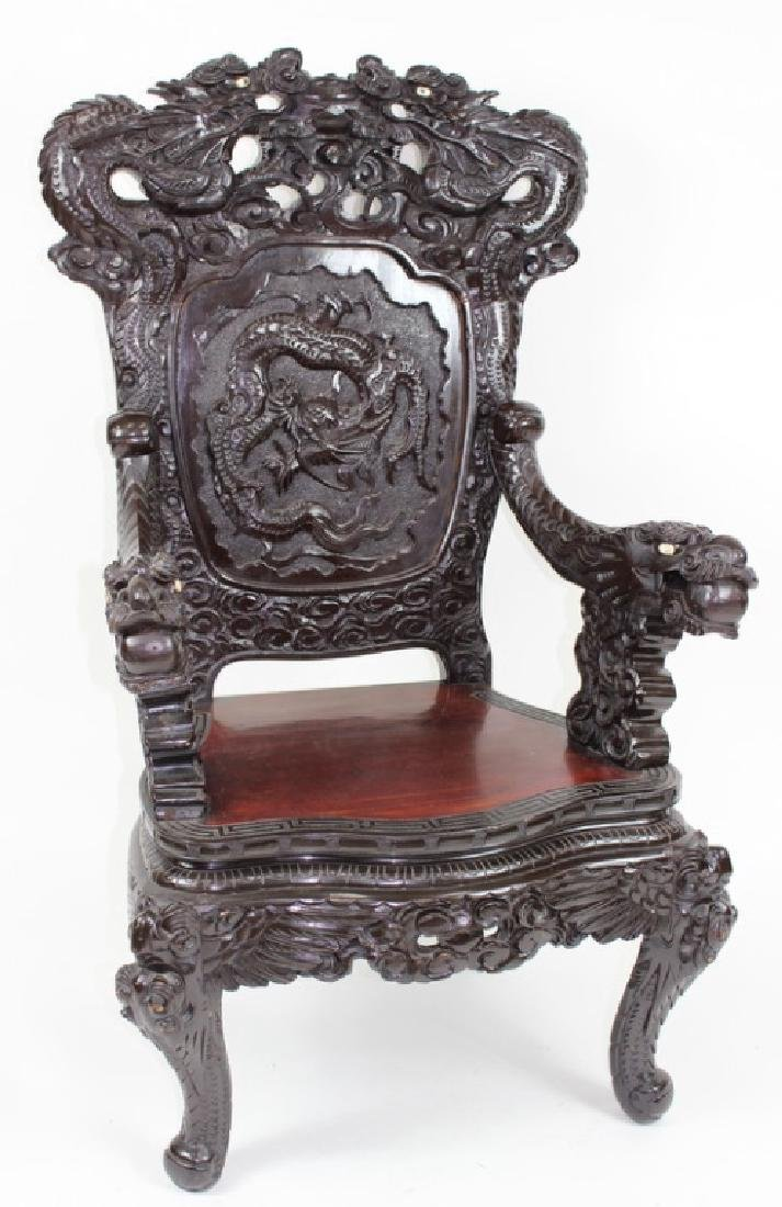 Large, Japanese, Dragon, Emperor Chair.