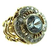 VINTAGE 14 KARAT DIAMOND RING