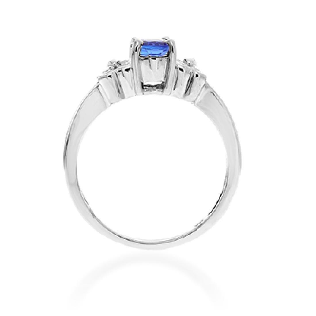 TANZANITE AND DIAMOND RING - 3