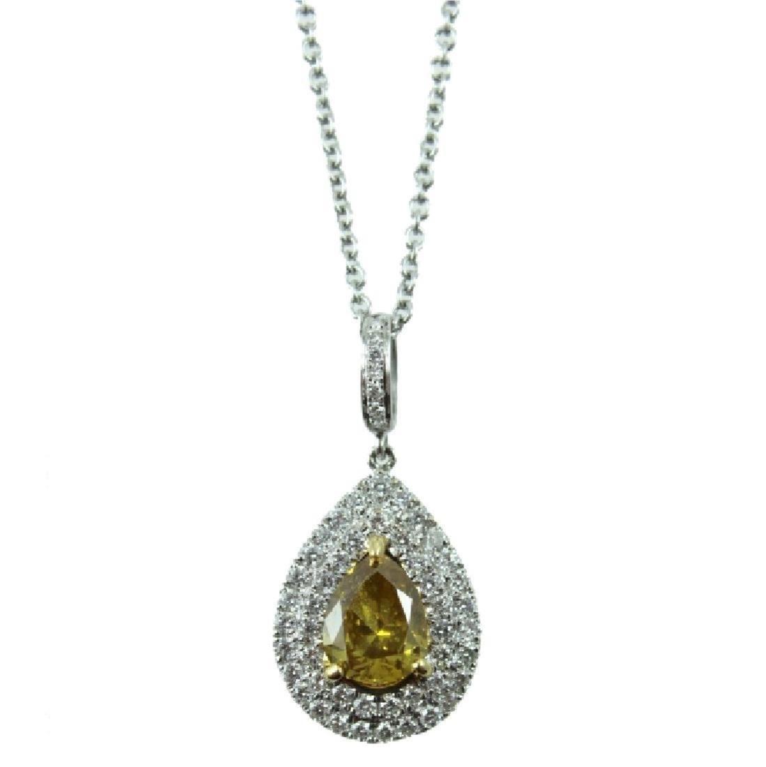 GIA CERTIFIED 1.28 CARAT PEAR SHAPE DIAMOND