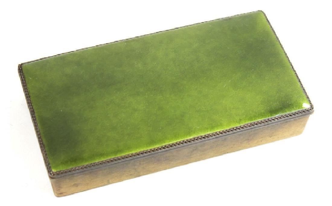 LARGE FRENCH ENAMELED VANITY BOX