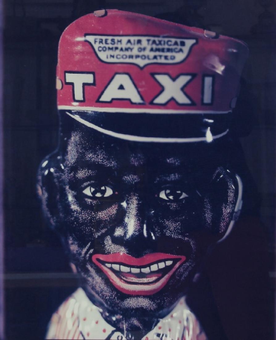 "DAVID LEVINTHAL, ""TAXI BLACKFACE"", POLAROID, 1/5"