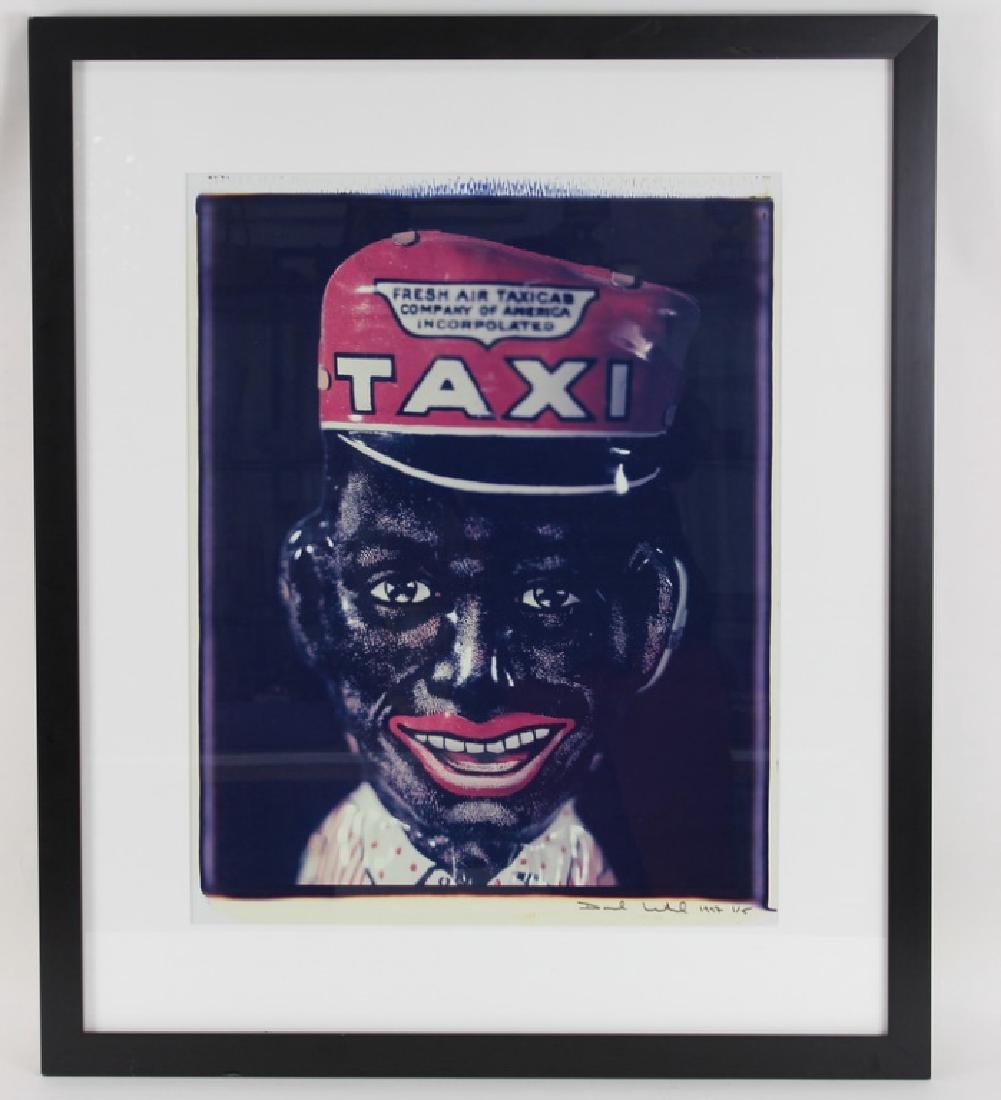"DAVID LEVINTHAL, ""TAXI BLACKFACE"", POLAROID, 1/5 - 2"