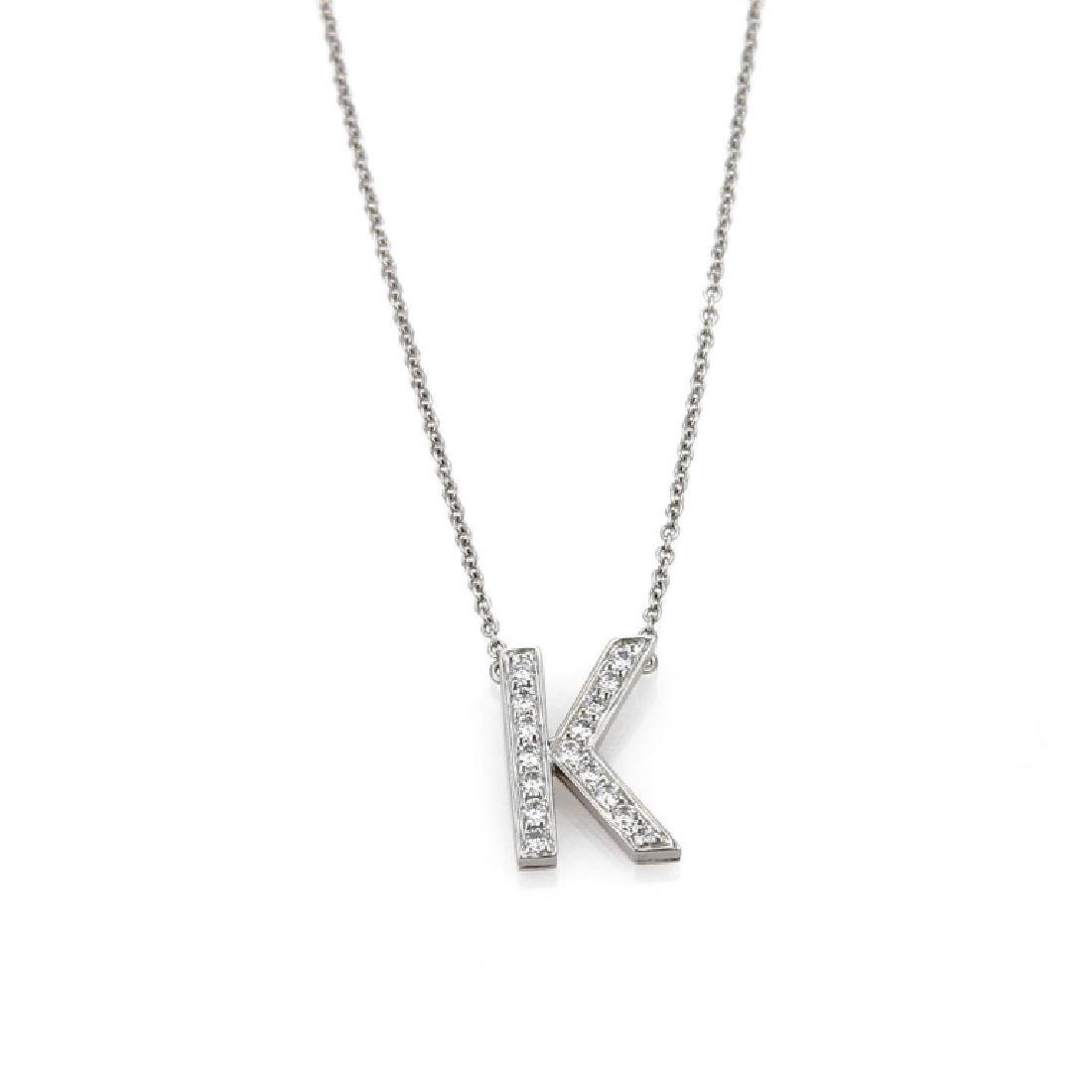 "TIFFANY & CO ""K"" DIAMOND NECKLACE"
