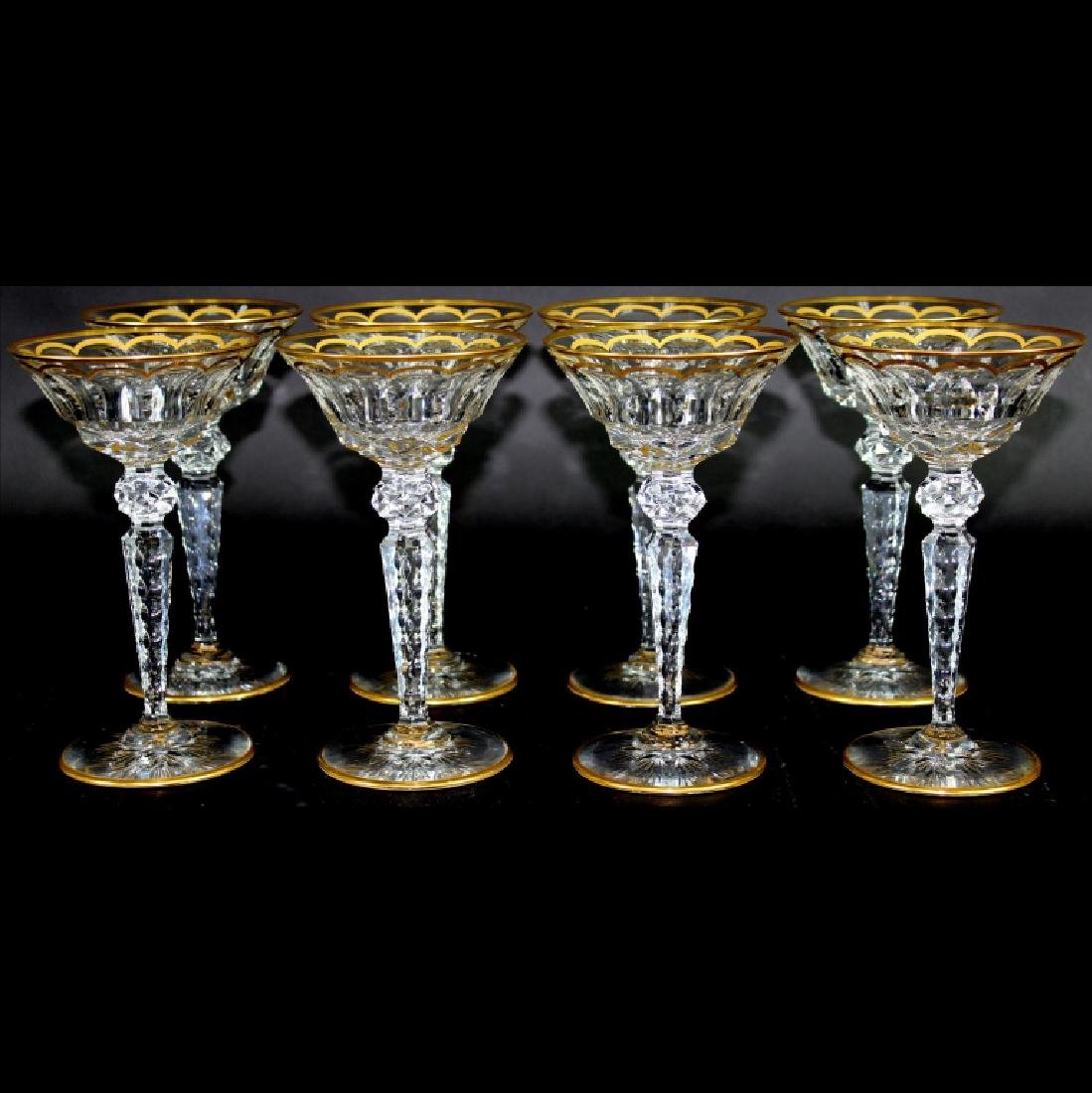 (8) EIGHT ST. LOUIS GLASS EXCELLENCE GOBLETS