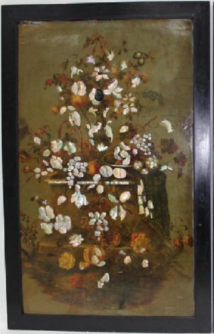 LARGE, IMPORTANT FRENCH OIL PAINTING ON BOARD - 2