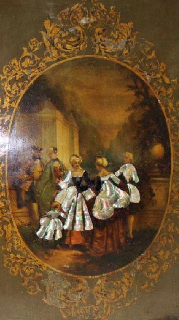 LARGE, IMPORTANT FRENCH OIL PAINTING ON BOARD