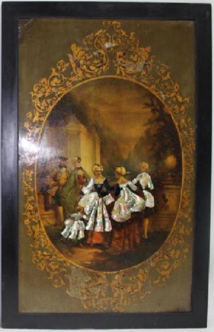 LARGE, IMPORTANT FRENCH OIL PAINTING ON BOARD - 3