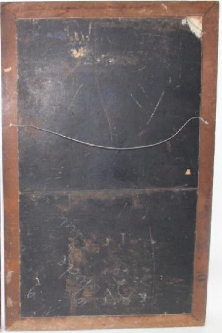LARGE, IMPORTANT FRENCH OIL PAINTING ON BOARD - 4