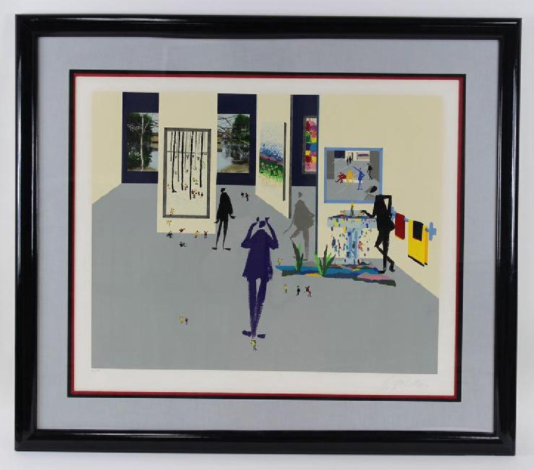 SIGNED MODERN LITHOGRAPH, UNKOWN ARTIST - 2