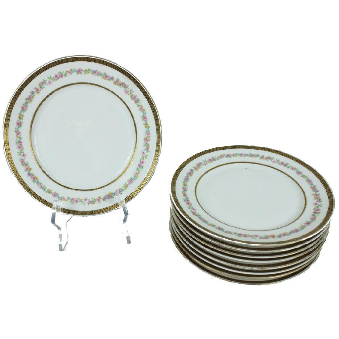 (9) NINE FRENCH PLATES LIMOGES