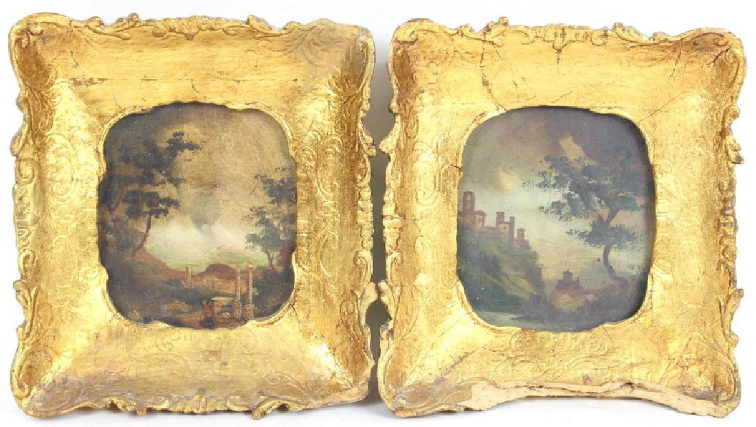 2) TWO ANTIQUE PAINTINGS