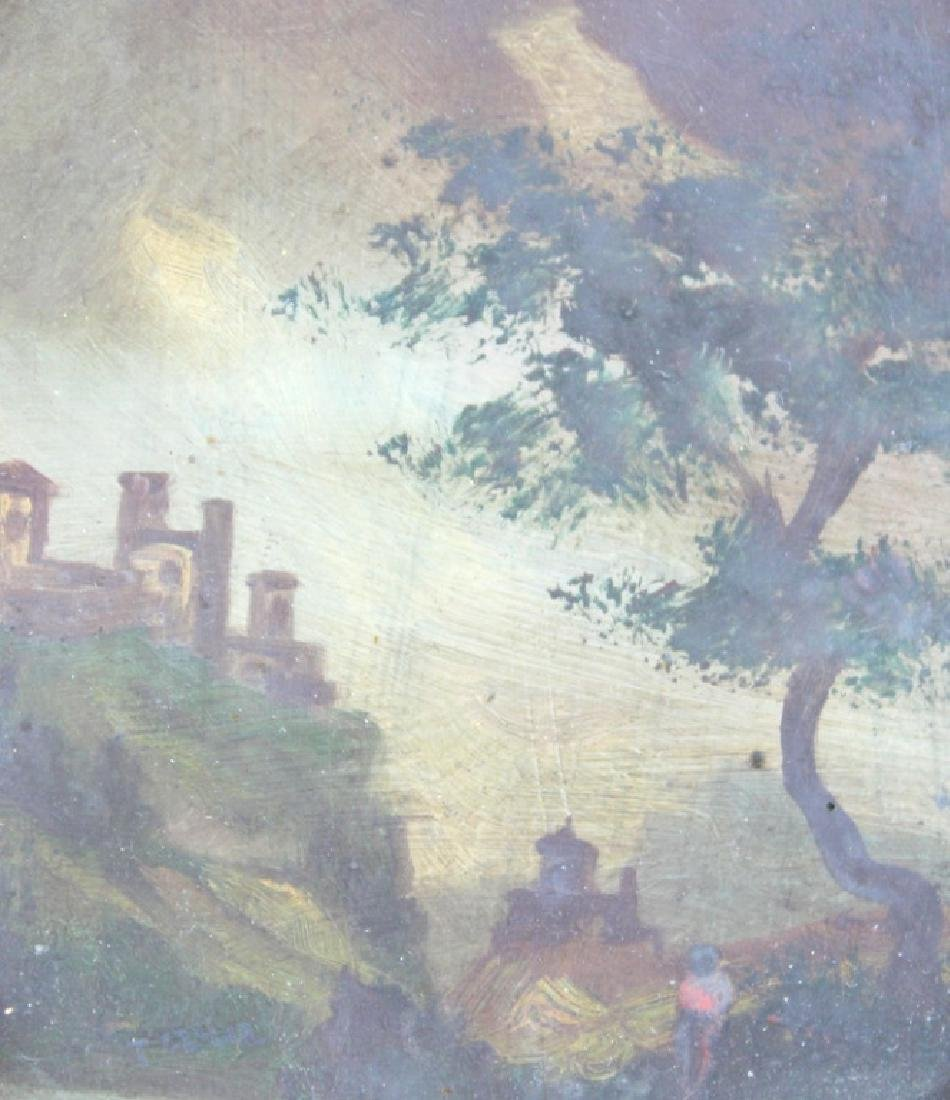 2) TWO ANTIQUE PAINTINGS - 3