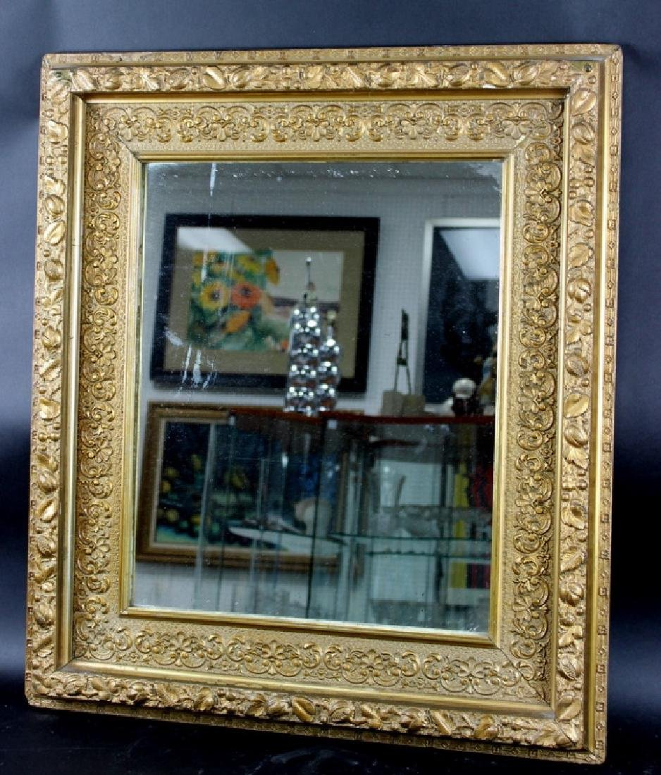 ANTIQUE FRENCH GILT PAINTED MIRROR