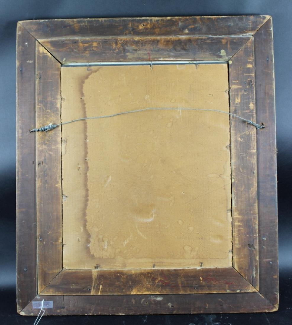 ANTIQUE FRENCH GILT PAINTED MIRROR - 2