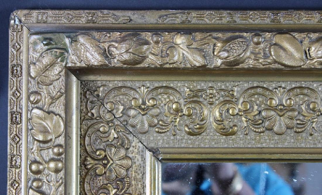 ANTIQUE FRENCH GILT PAINTED MIRROR - 3
