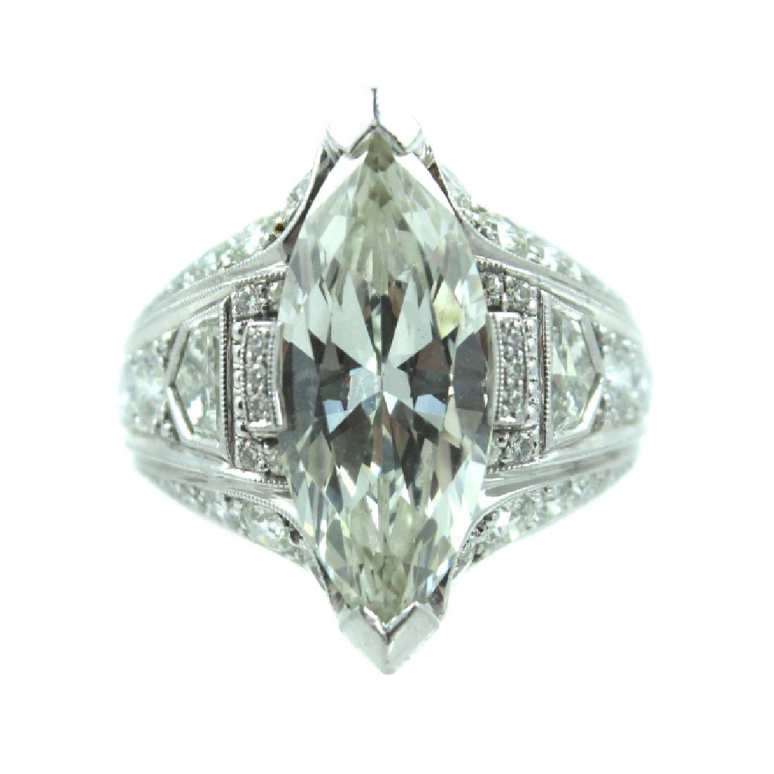 ESTATE 7.50 TCW MARQUISE DIAMOND ENGAGEMENT RING