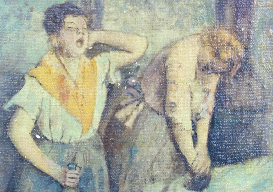 ANTIQUE, OIL ON CANVAS PAINTING, SIGNED DEGAS